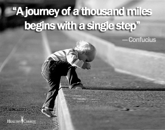 A journey of a thousand miles begin with one single step.